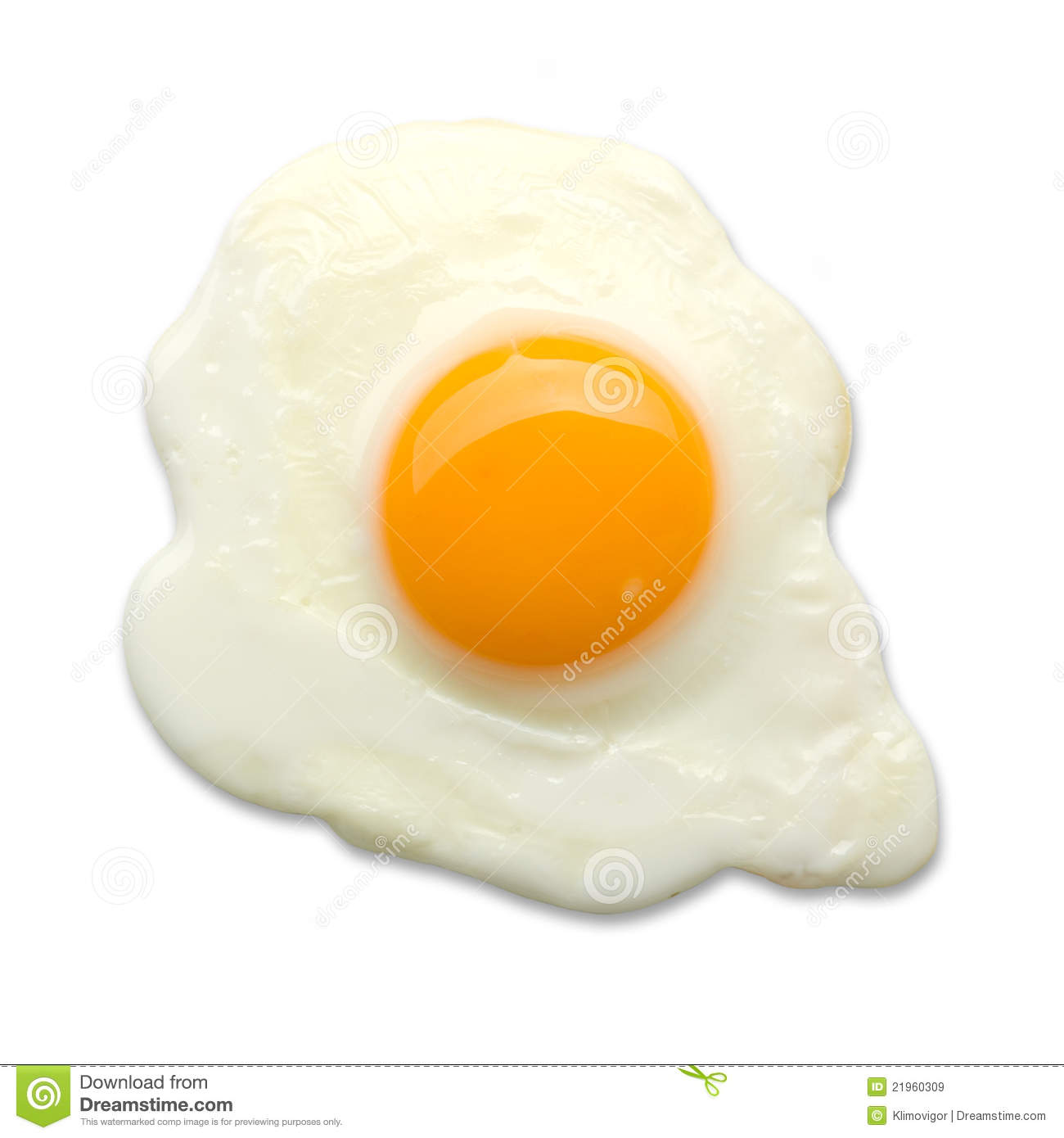 Fried Egg Isolated Royalty Free Stock Images - Image: 21960309