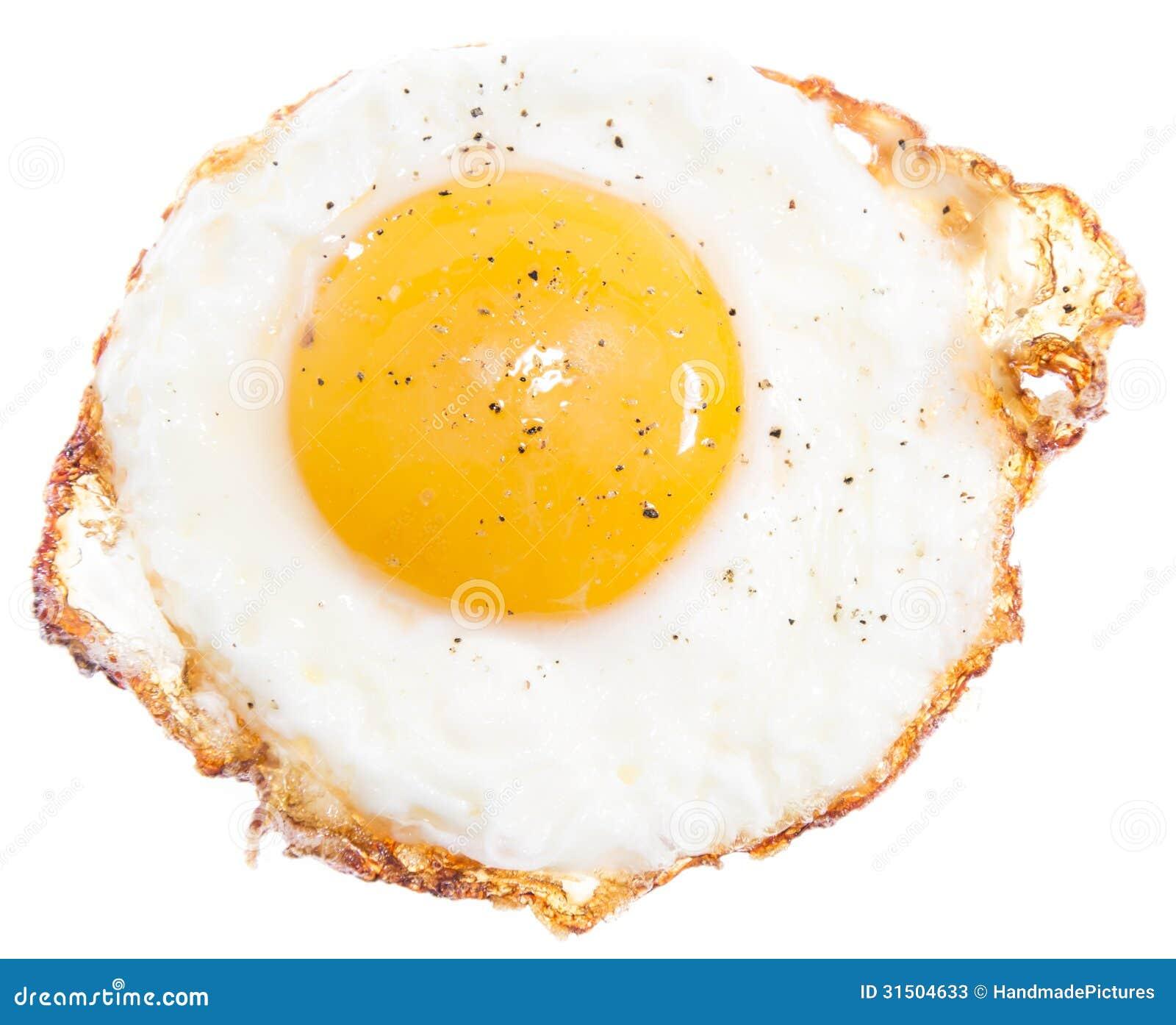 Fried Egg Isolated On White Stock Photos - Image: 31504633