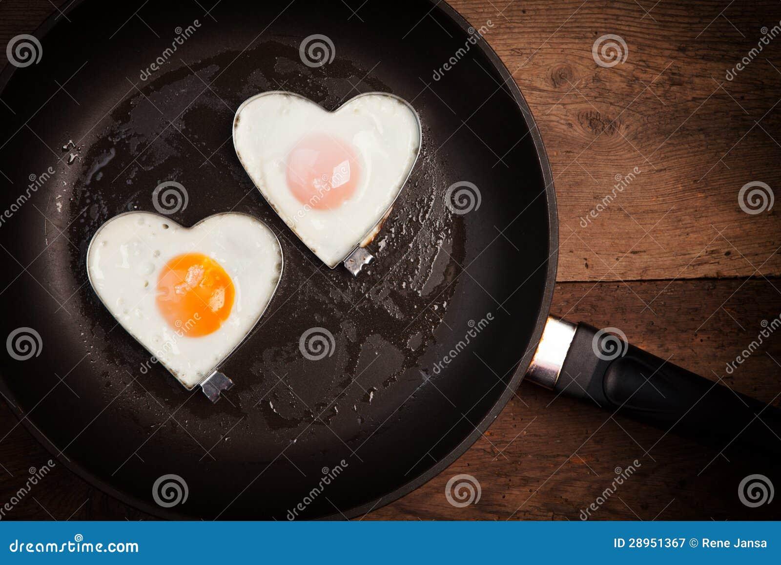 Fried egg love heart