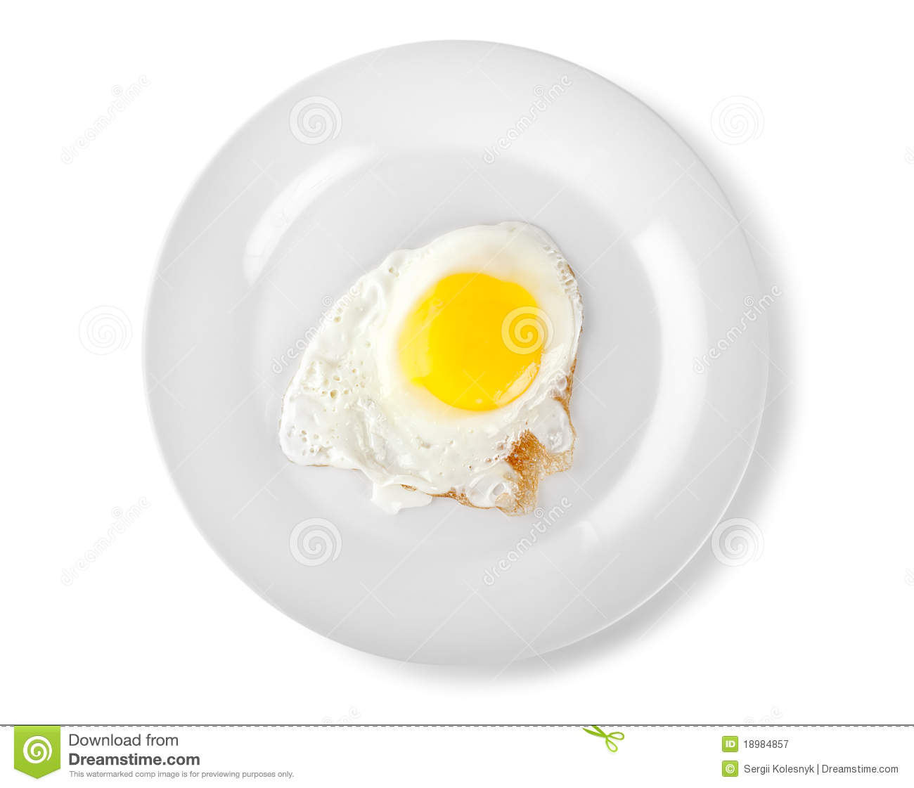 White plate with fried egg on wooden table. Serving ...  |Fried Eggs On A Plate