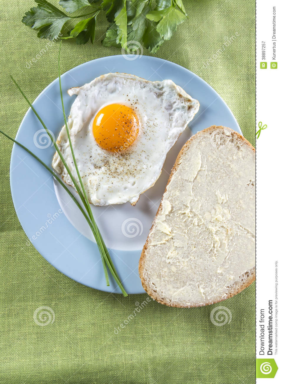 Fried eggs on plate stock image. Image of breakfast ...  |Fried Eggs On A Plate