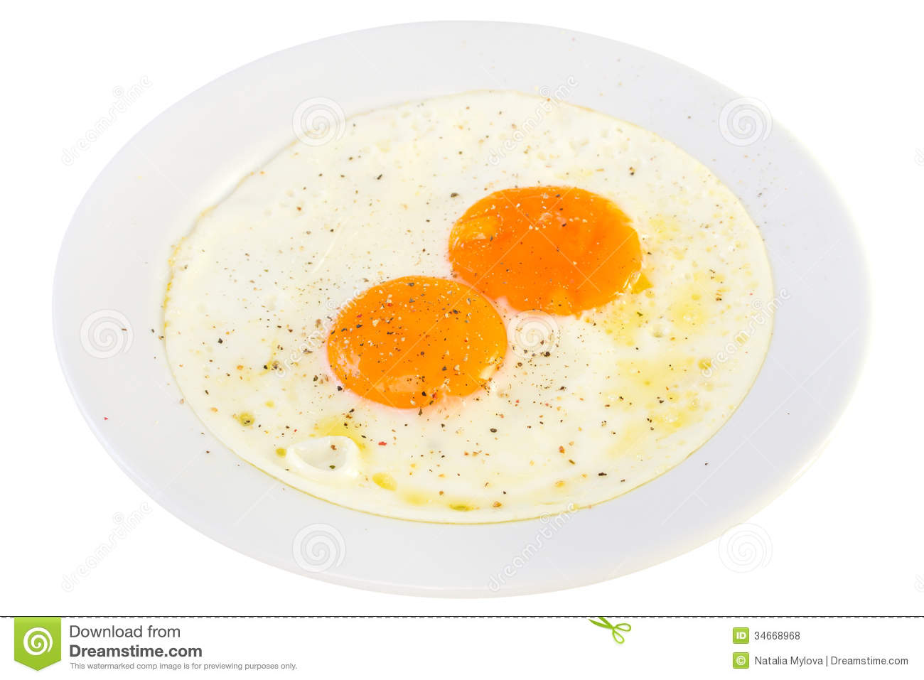 Fried Eggs On Plate Royalty Free Stock Photo - Image: 34421155  |Fried Eggs On A Plate