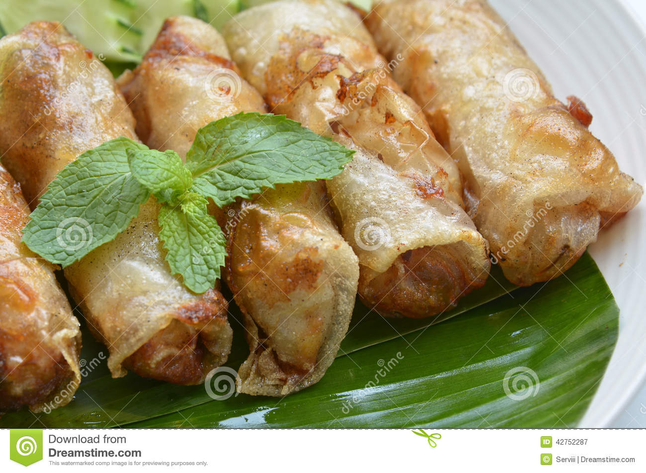 Fried Egg Rolls Of Vietnamese Cuisine Stock Photo - Image: 42752287
