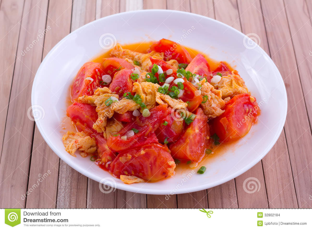 Fried Egg With Tomato Stock Images - 165.2KB
