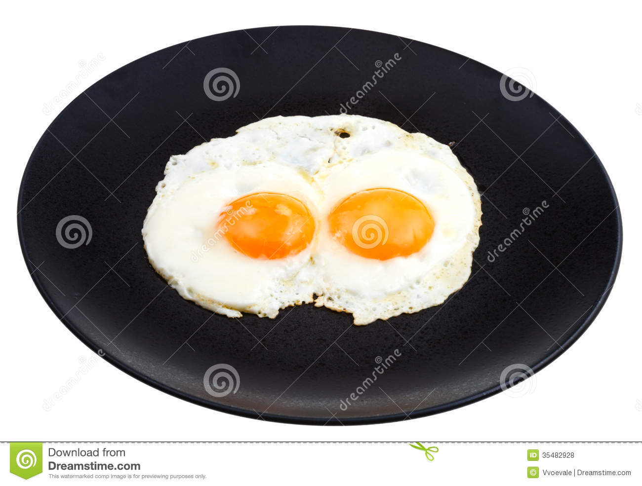 Fried Eggs On Plate stock image. Image of table, vegetable ...  |Fried Eggs On A Plate