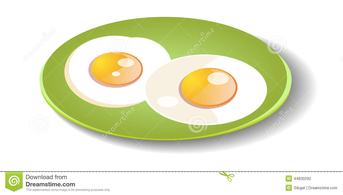 Fried Egg On Wooden Plate Royalty Free Stock Photo - Image ...  |Fried Eggs On A Plate