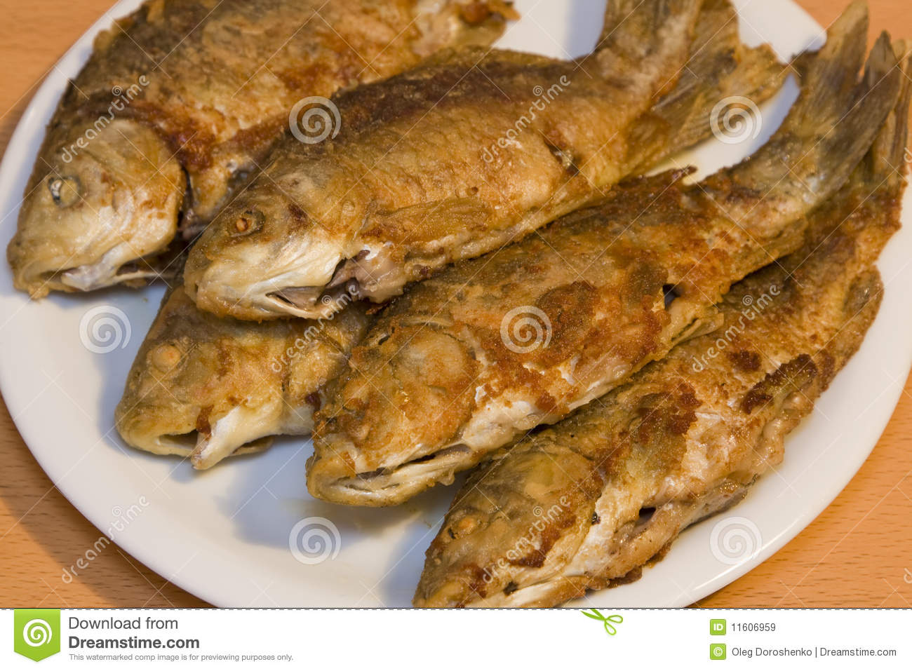 Fried fish stock image image of group carp parsley for How many calories in fried fish