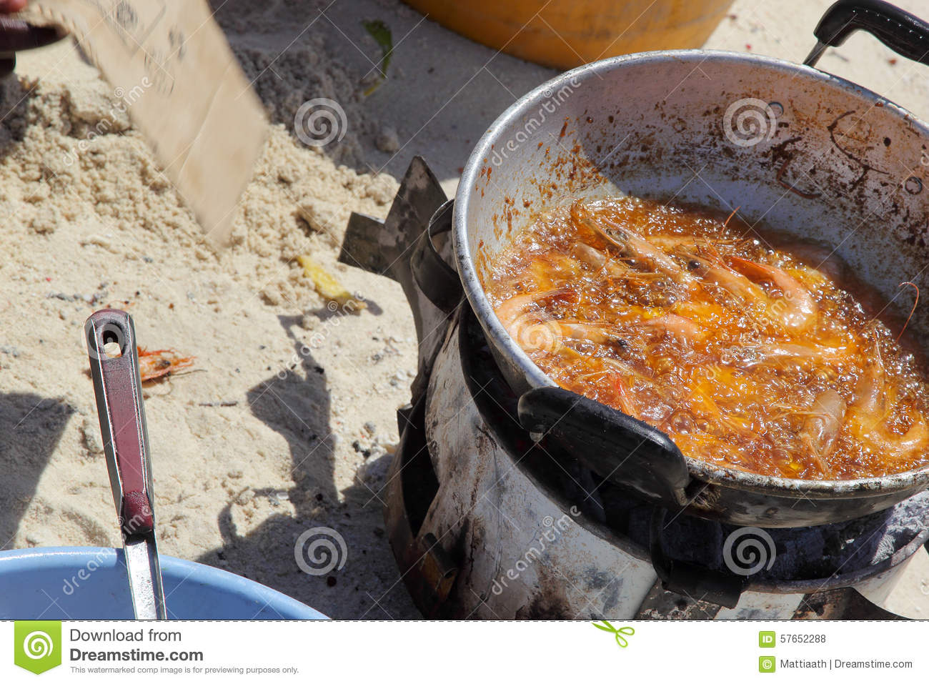 Fried fish on the beach stock photo image of meal for Best oil for frying fish