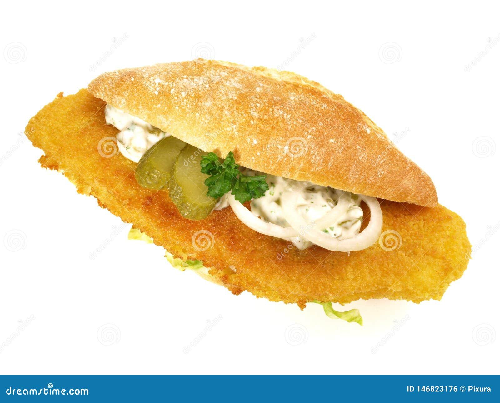 Fried Fish Bun