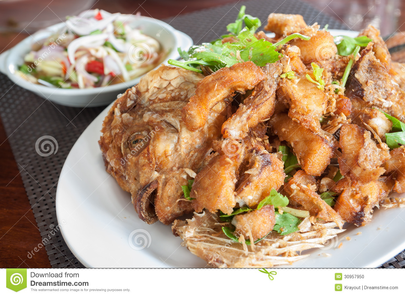 Fried fish stock photo image 30957950 for Best oil to fry fish
