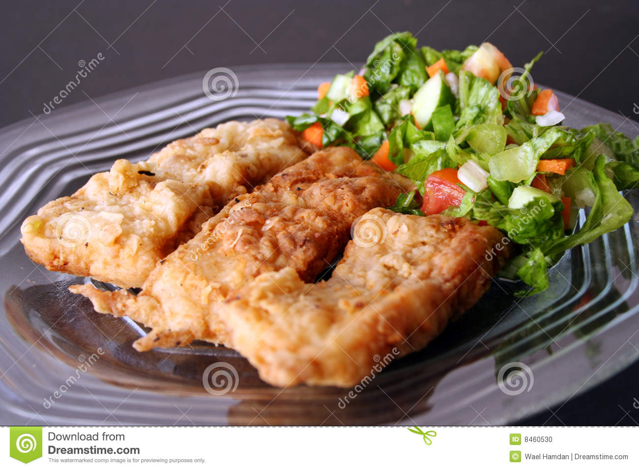 Fried fish filet in dish stock photo image 8460530 for Fried fish nutrition