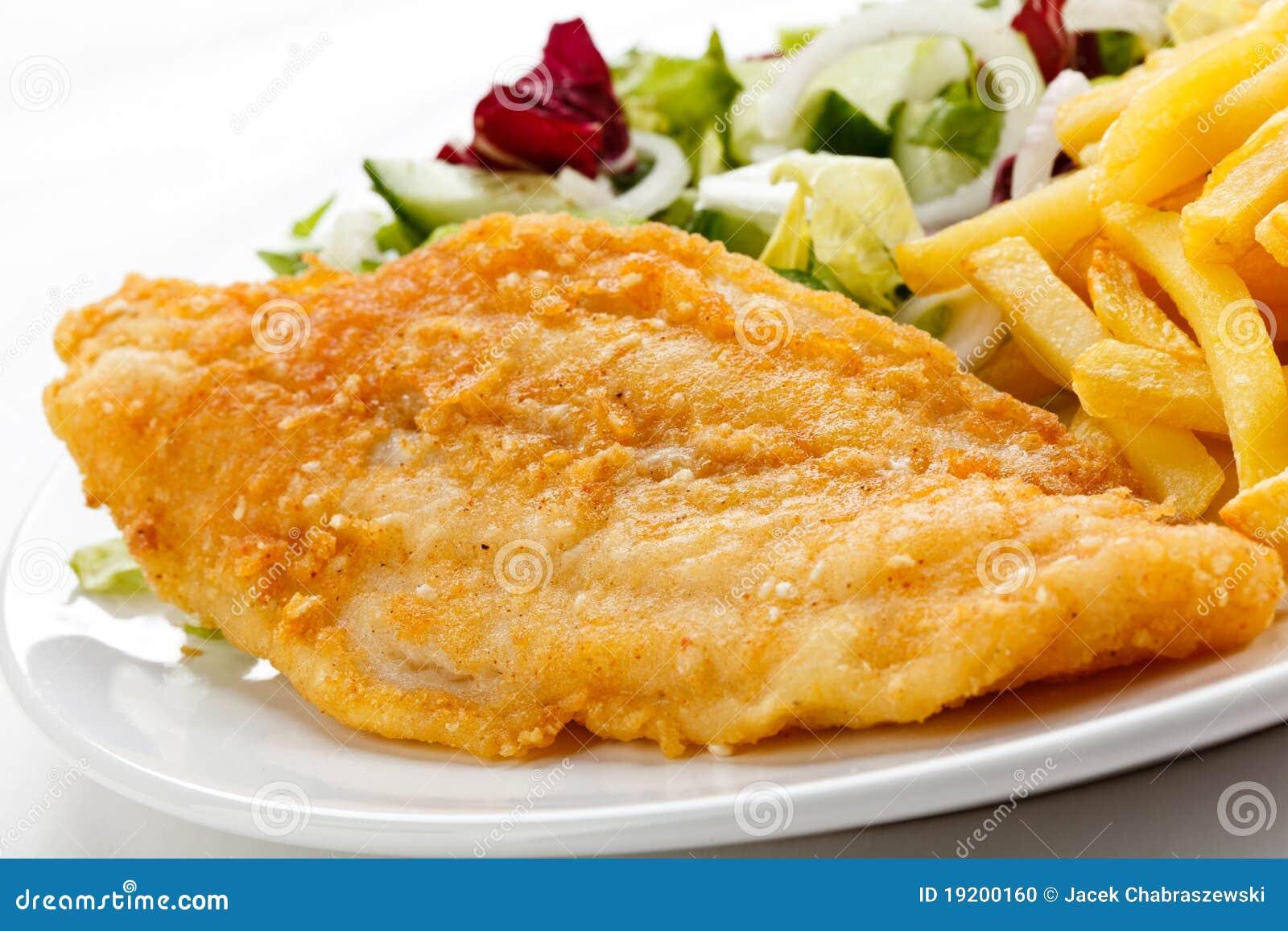 Fried fish fillet