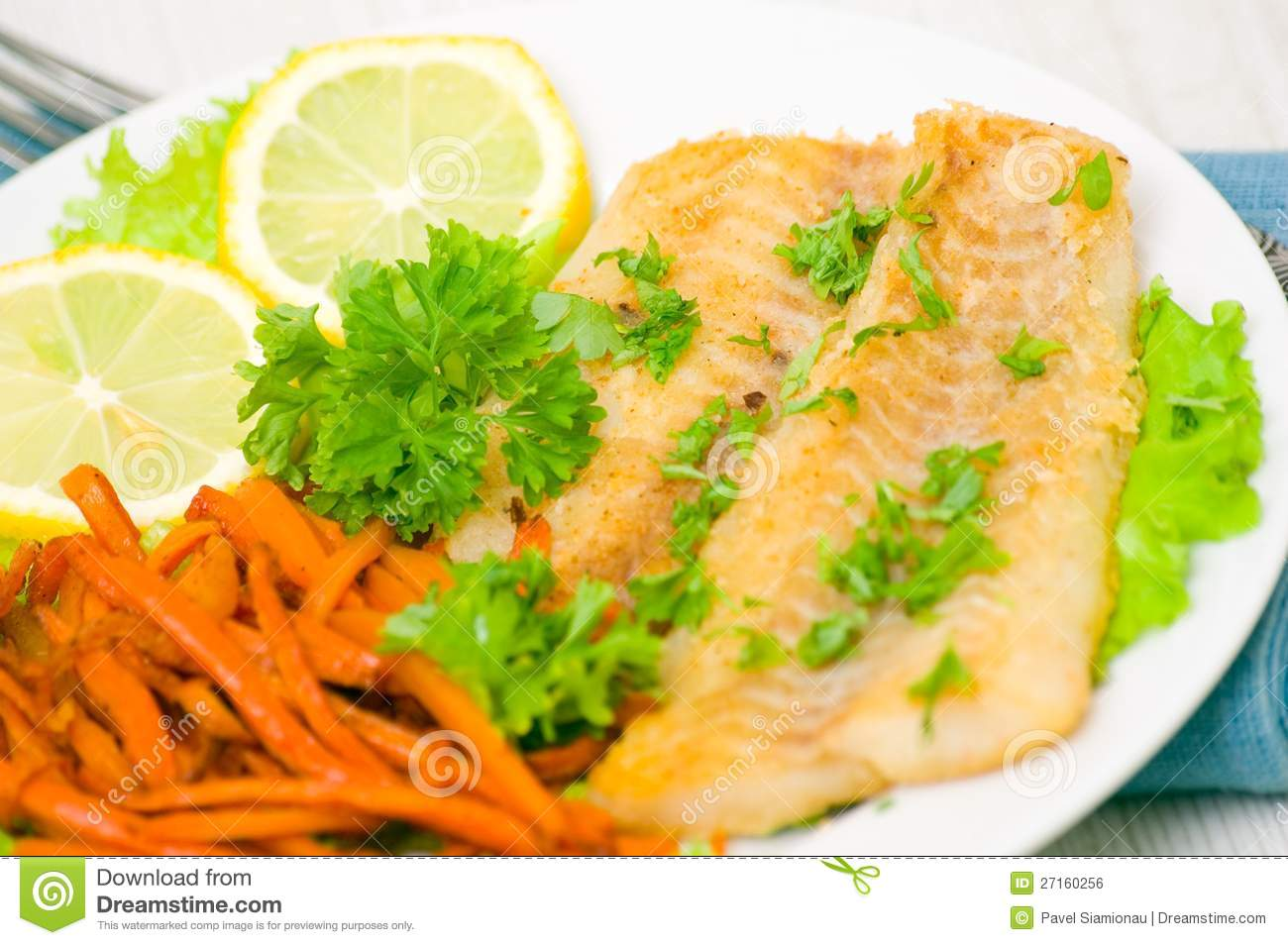 Fried fish fillet with vegetables royalty free stock image for Fried fish fillet