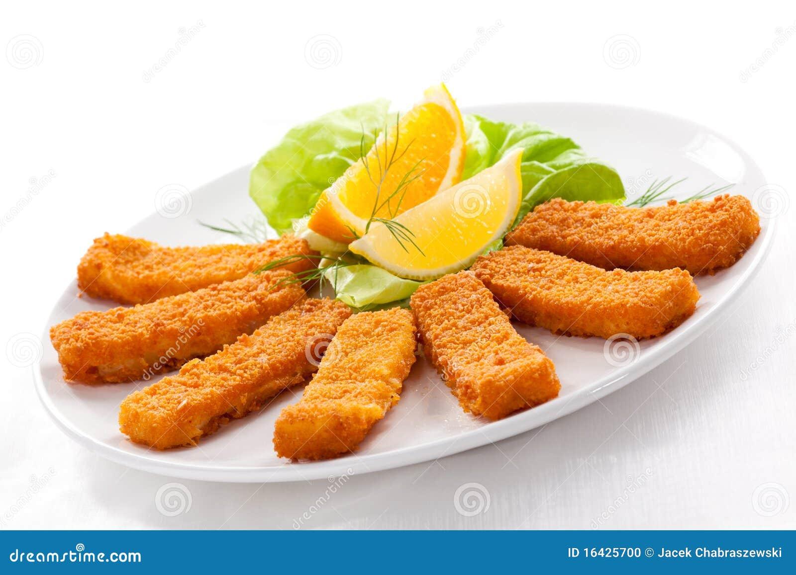 fried fish fingers stock photo image 16425700