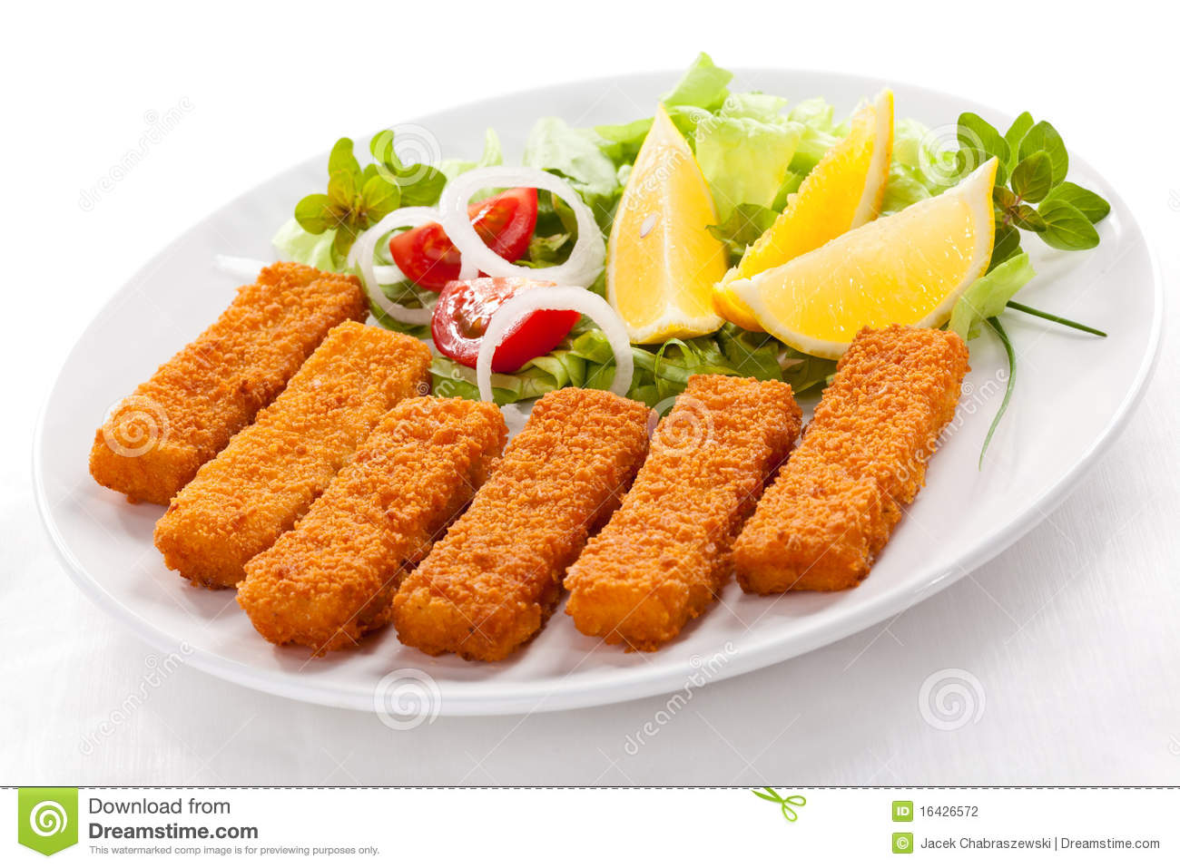 Fried fish fingers stock photography image 16426572 for Fried fish calories