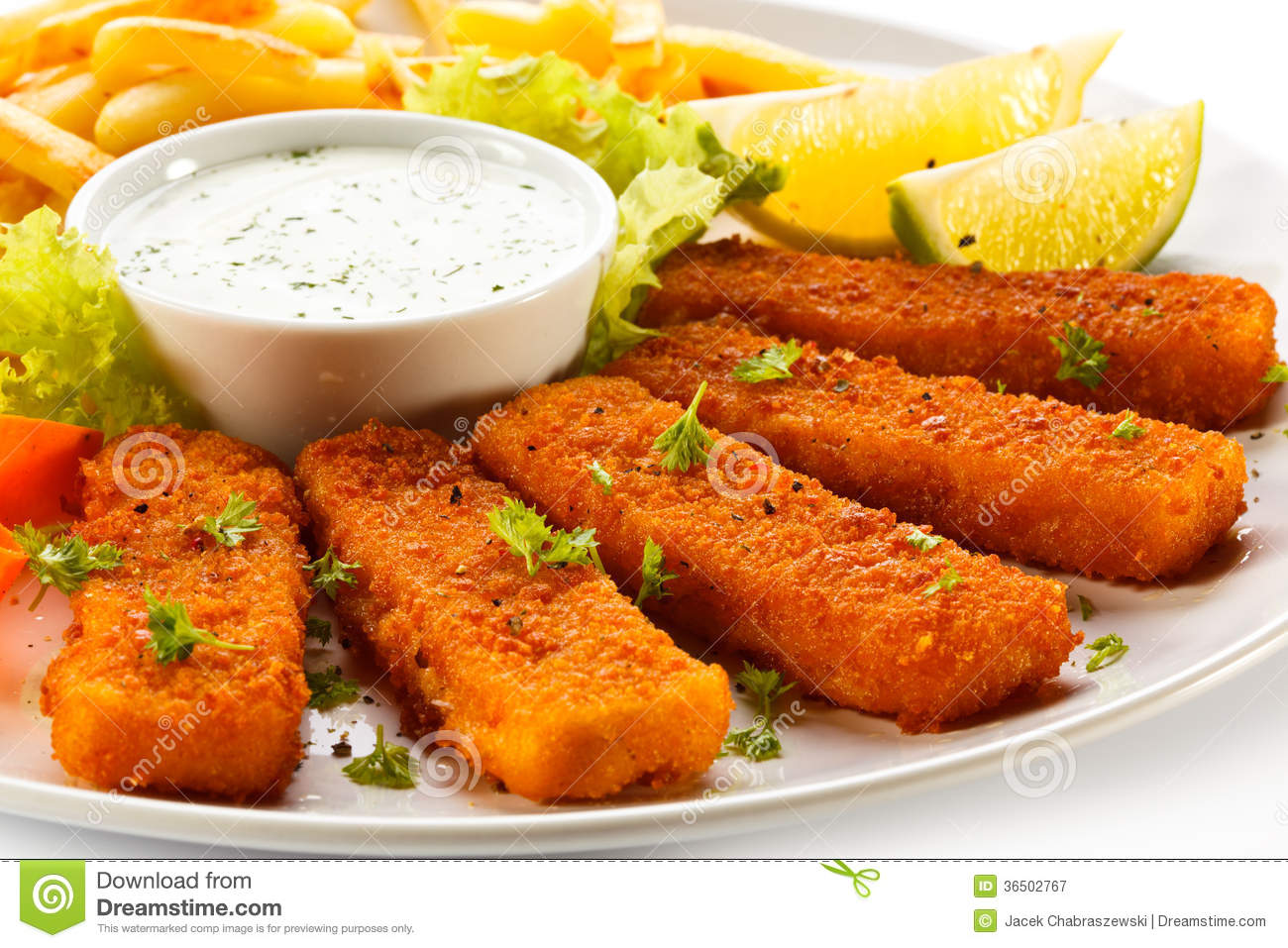 Fried fish fingers royalty free stock photography image for What vegetables go with fish