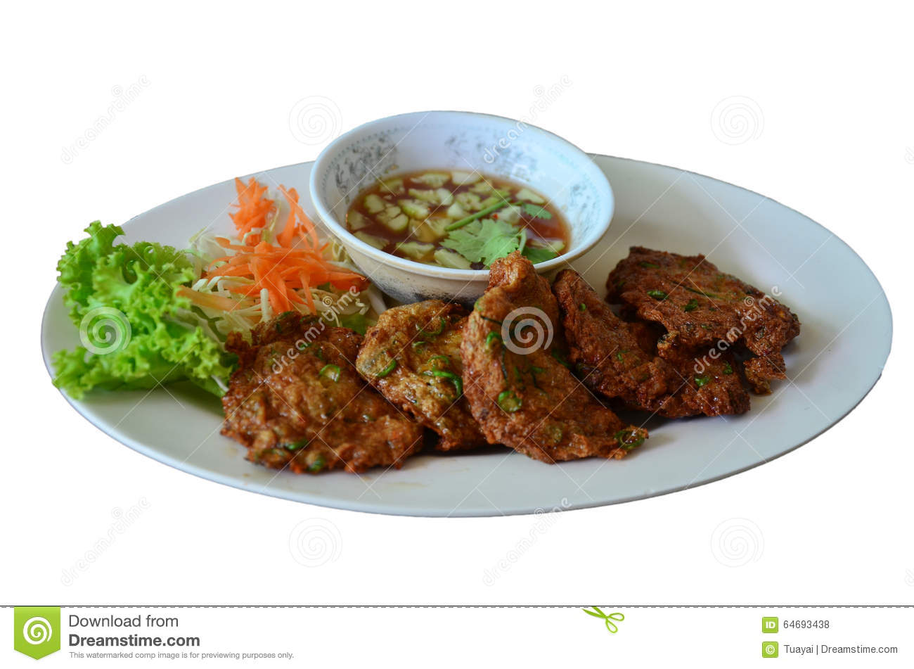 Fried Fish Patty Or Curried Fish Cake Stock Photo - Image: 64693438