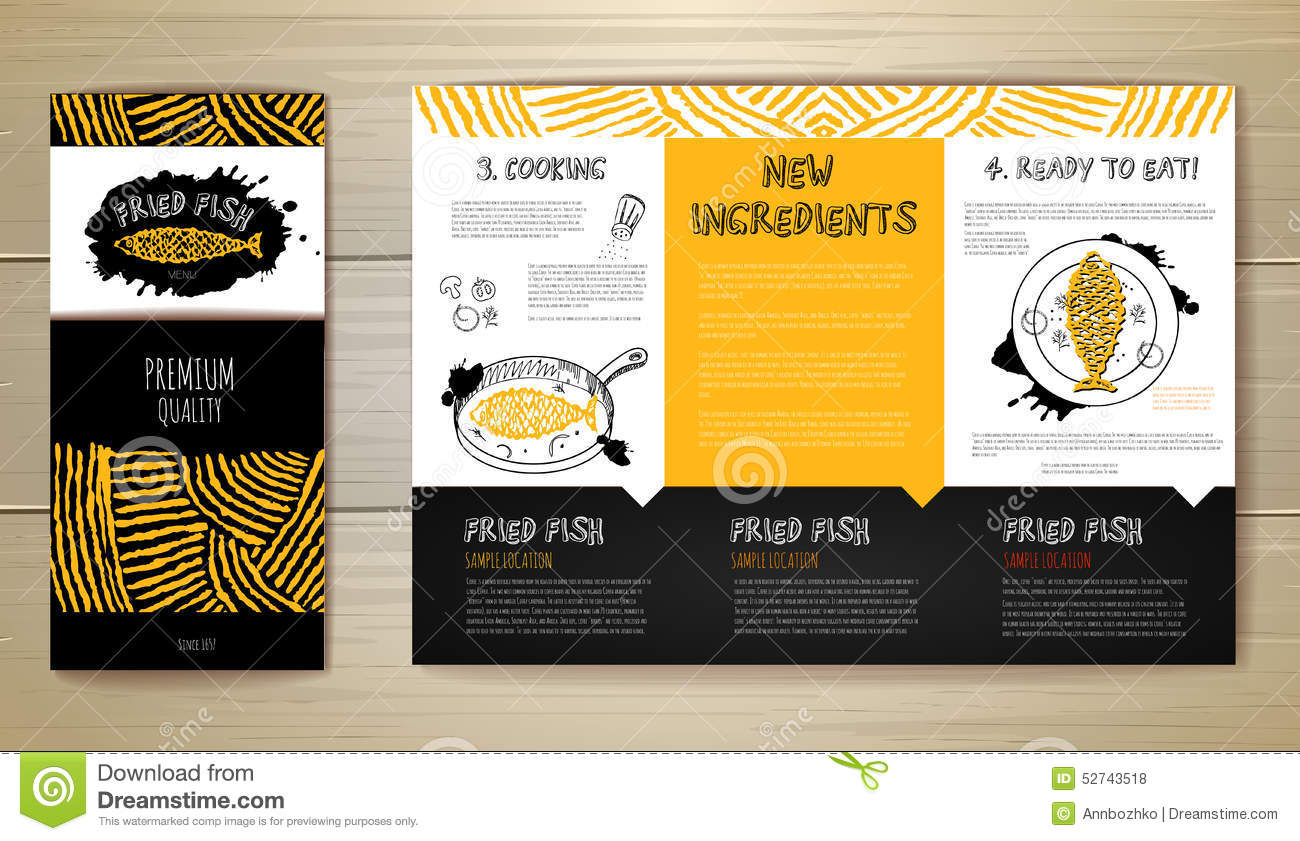 Fried fish restaurant menu concept design corporate for Max fish menu