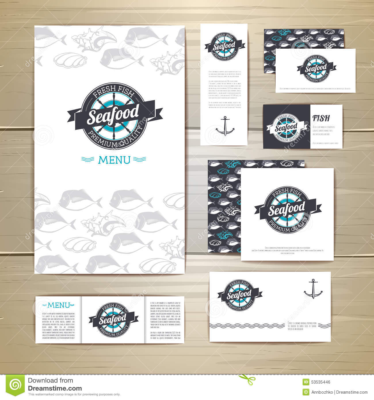 Seafood Restaurant Design Concept : Fried fish restaurant menu concept design corporate