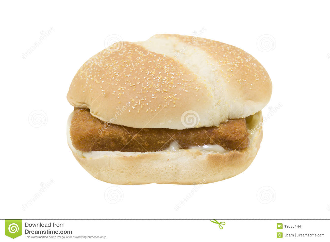 Fried fish sandwich stock images image 19086444 for Fish sandwich fast food