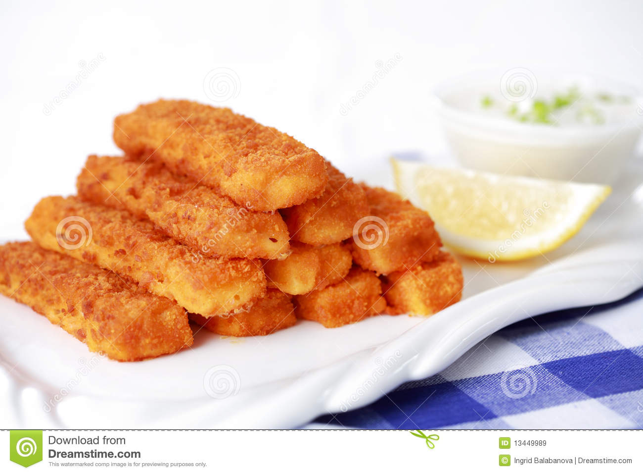 Fried fish sticks with remoulade royalty free stock images for Healthy fish sticks