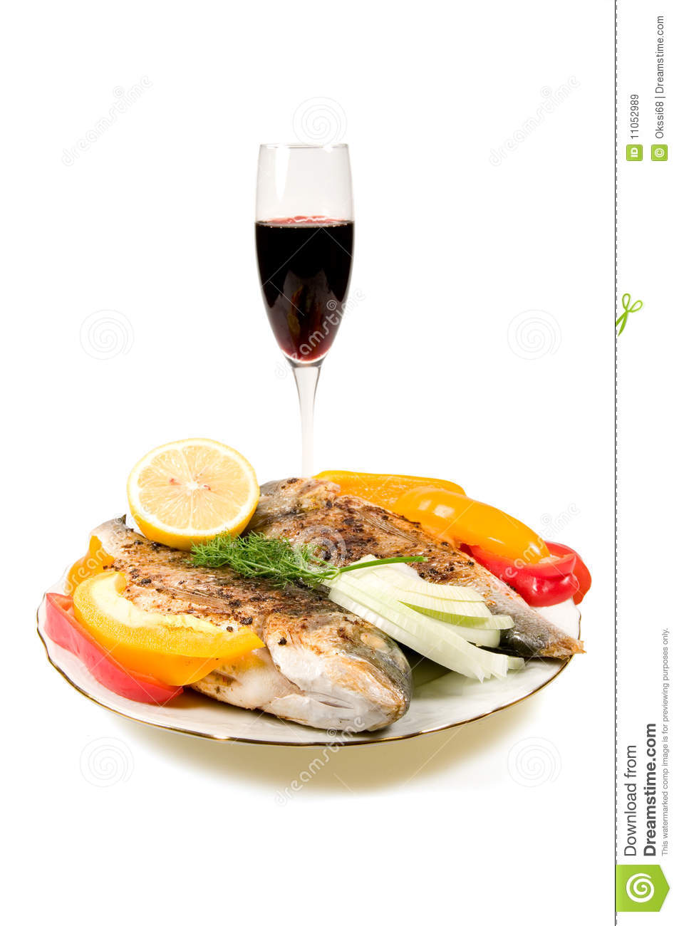 Fried fish and wine royalty free stock images image for Wine with fish