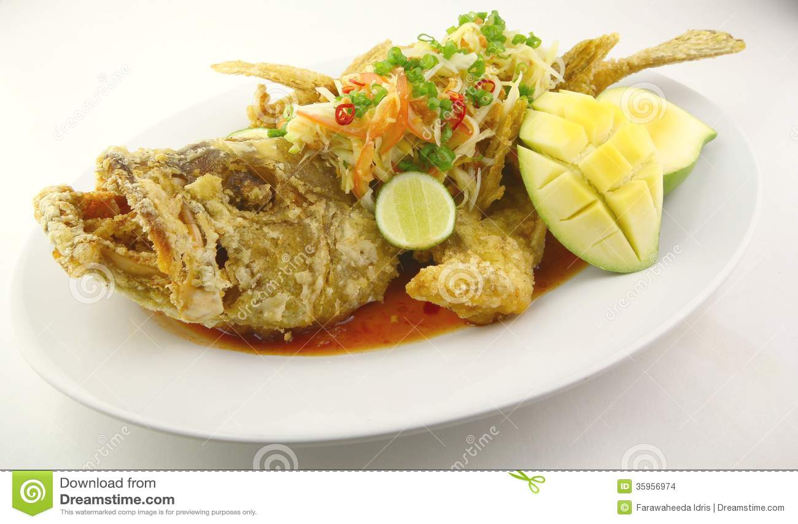 Fried Garoupa profundo