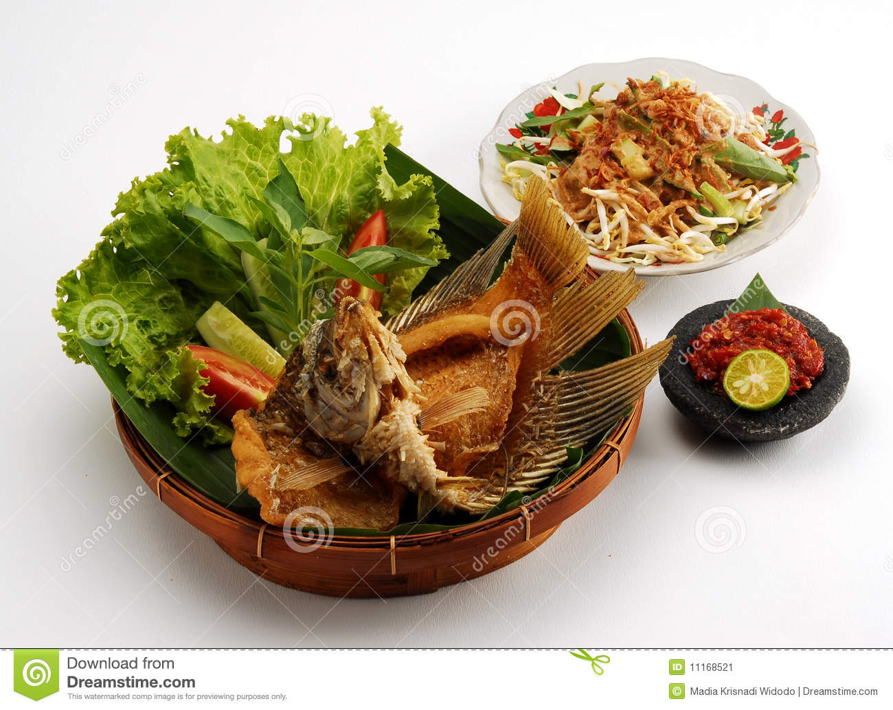Fried gourami meal stock image image 11168521 for Fried fish nutrition