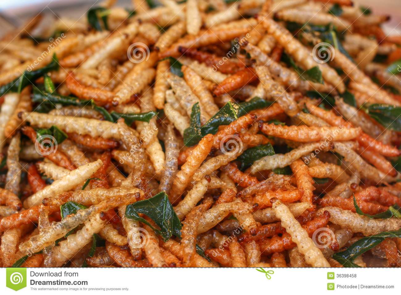 how to eat fried worms free online