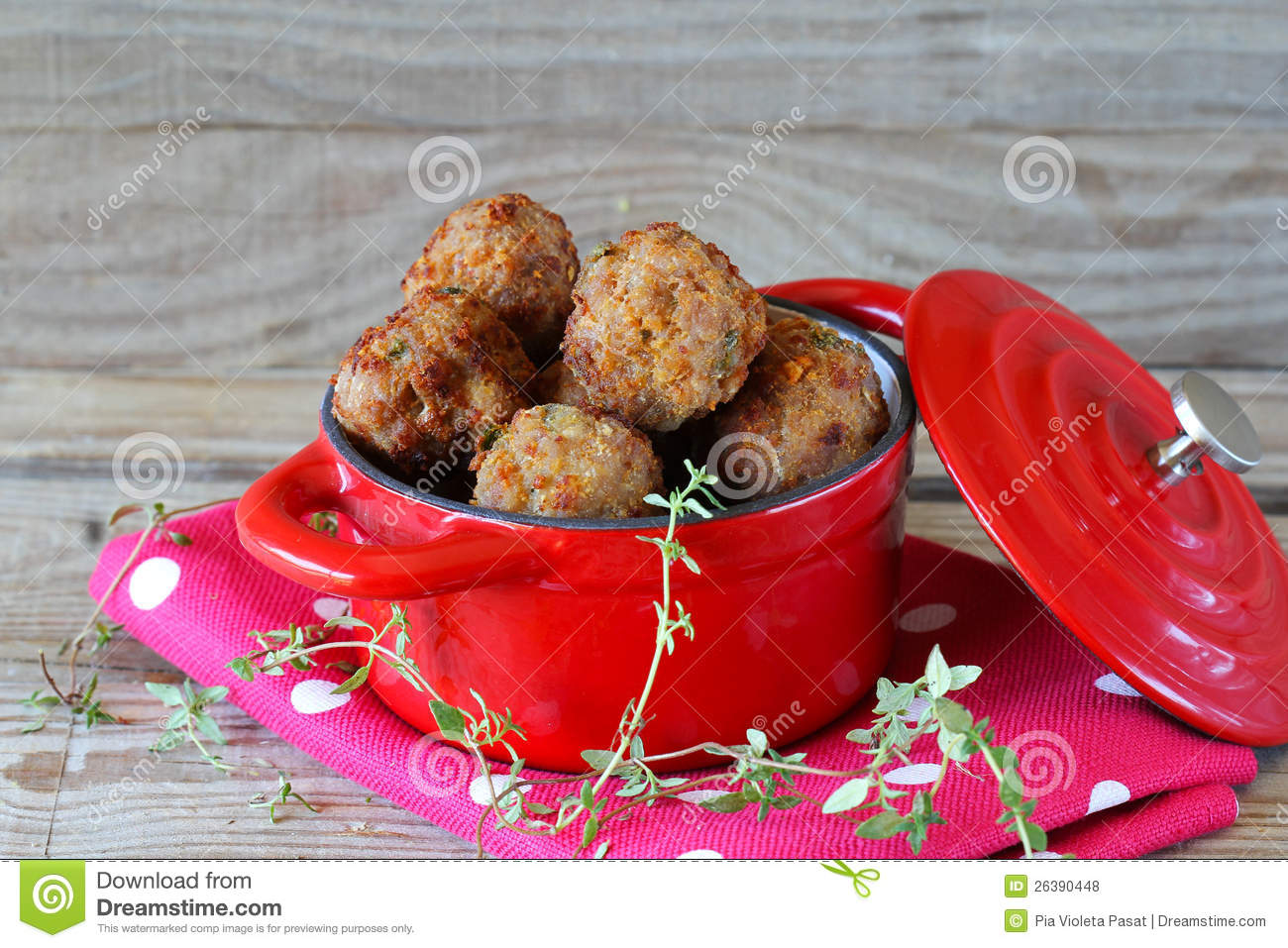 Fried Meatballs Royalty Free Stock Photos - Image: 26390448