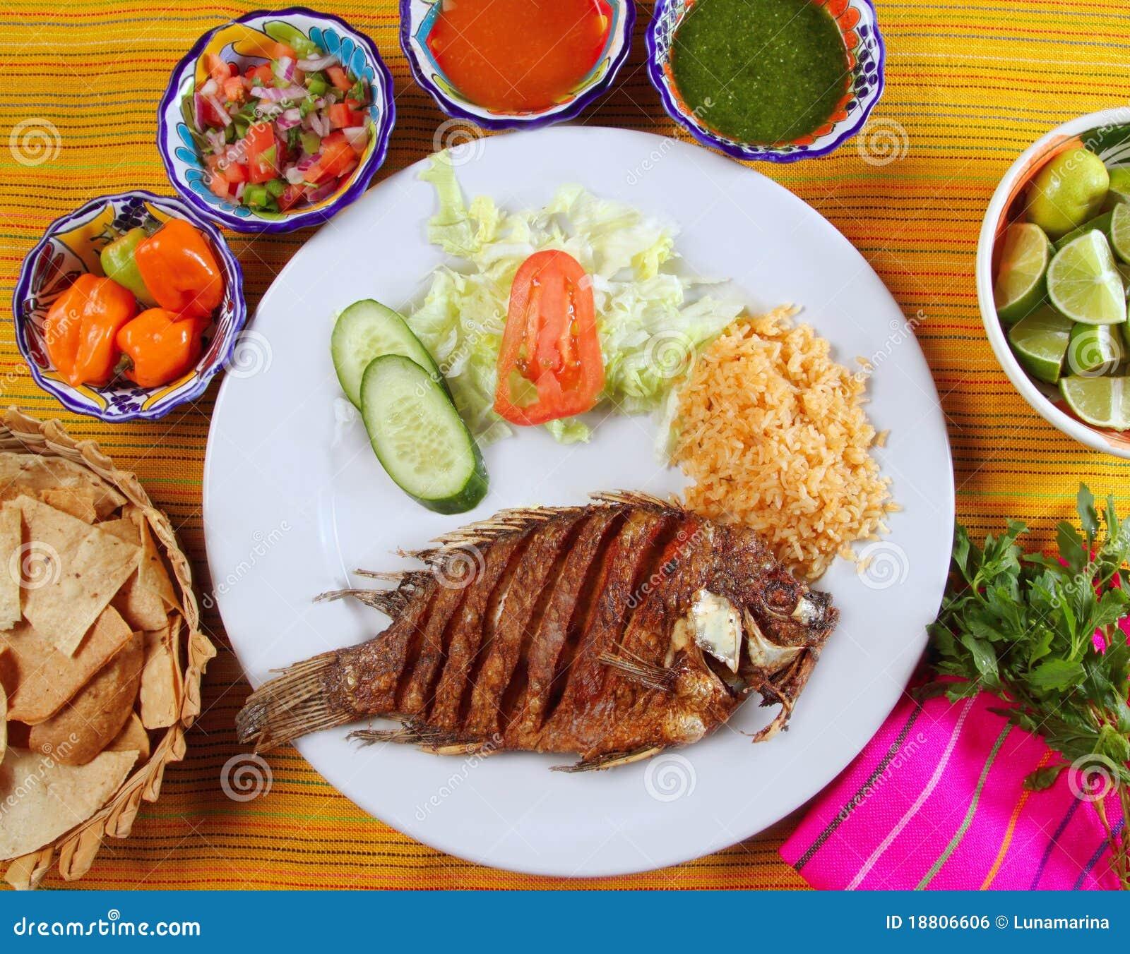 Fried Mojarra Tilapia Fish Mexico Style Royalty Free Stock Image ...