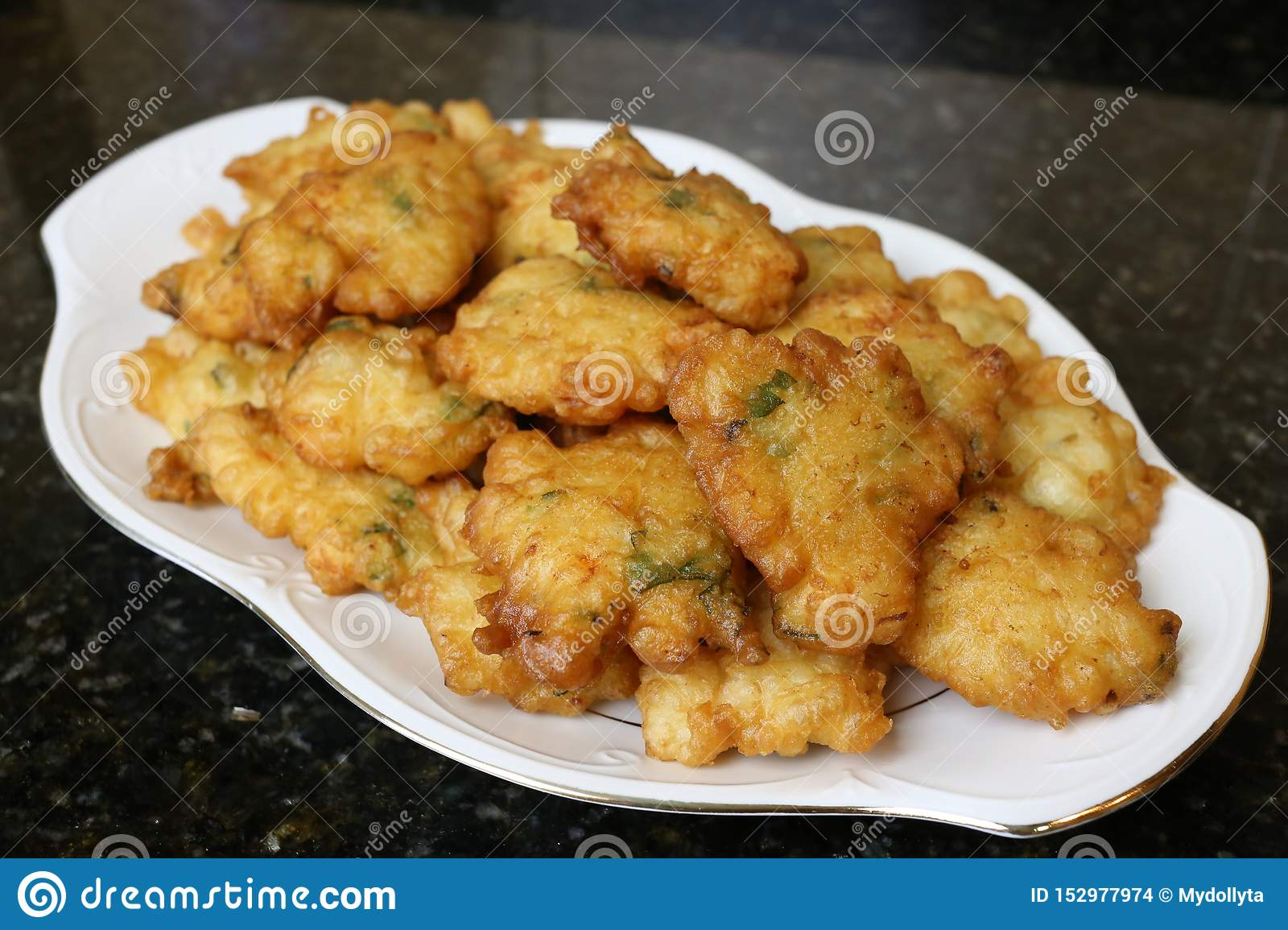 Fried omelette with prawns Andalusian and Spanish cuisine