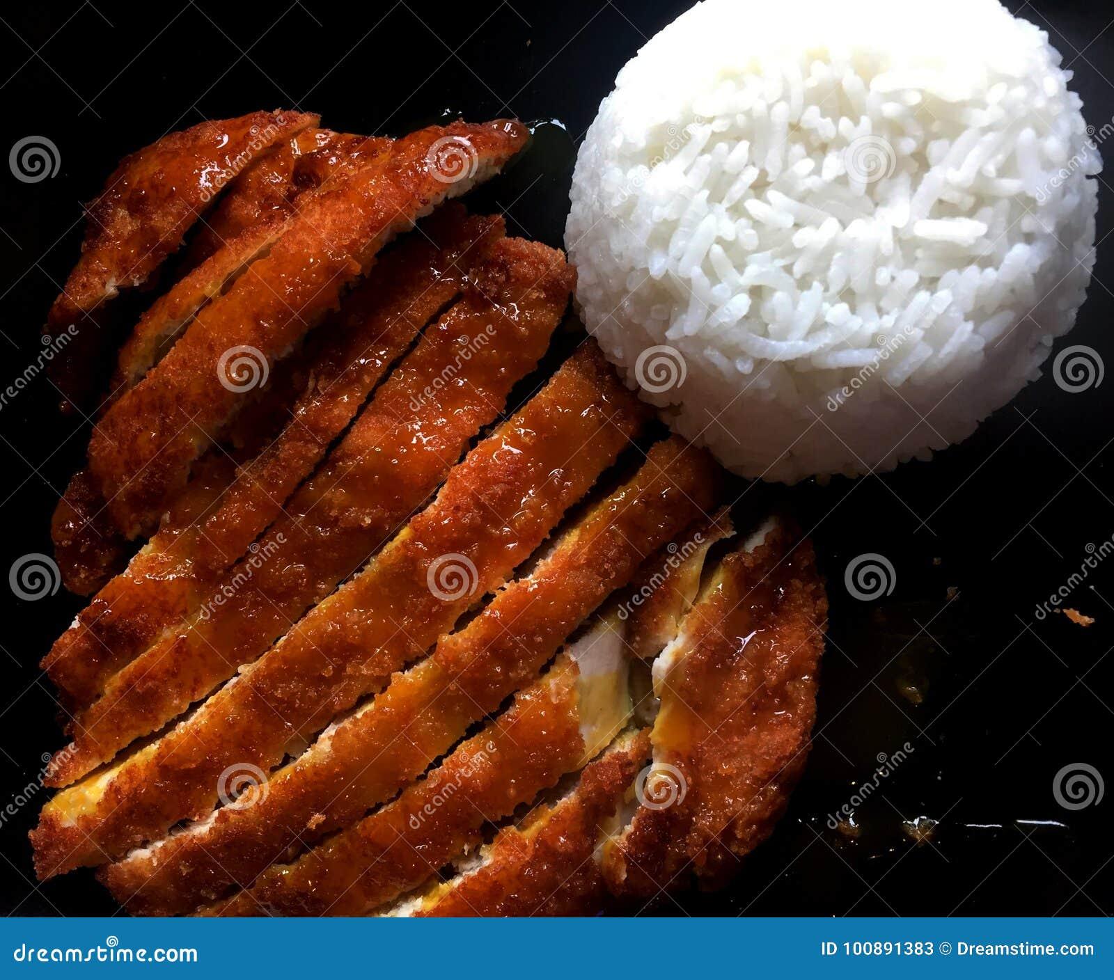 Fried Porkchop med ris