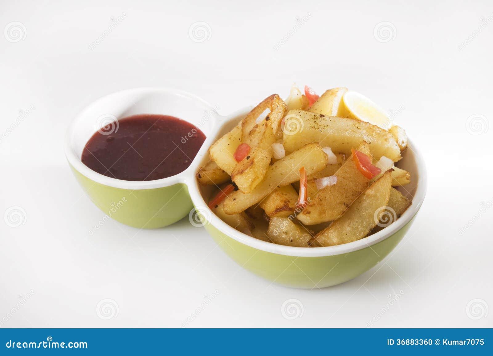 Download Fried Potato o Aloo Chaat fotografia stock. Immagine di india - 36883360