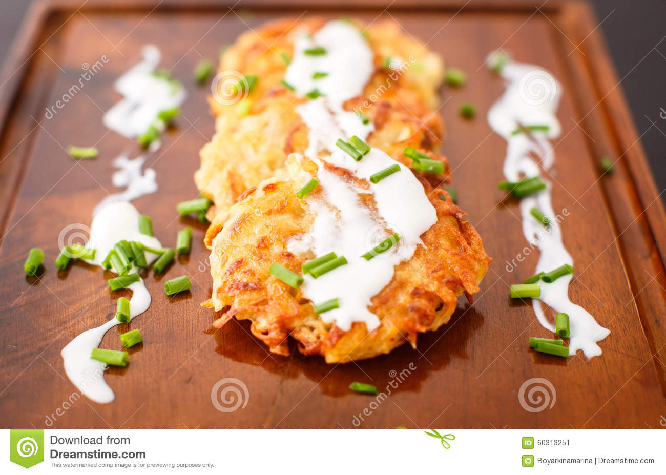 Cream Fried Green Onion Onions Pancakes Potato