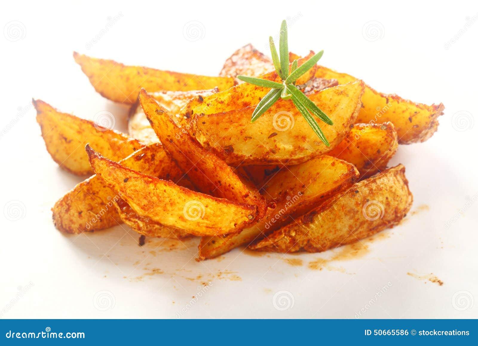 Fried Potato Wedges épicé gastronome de plat