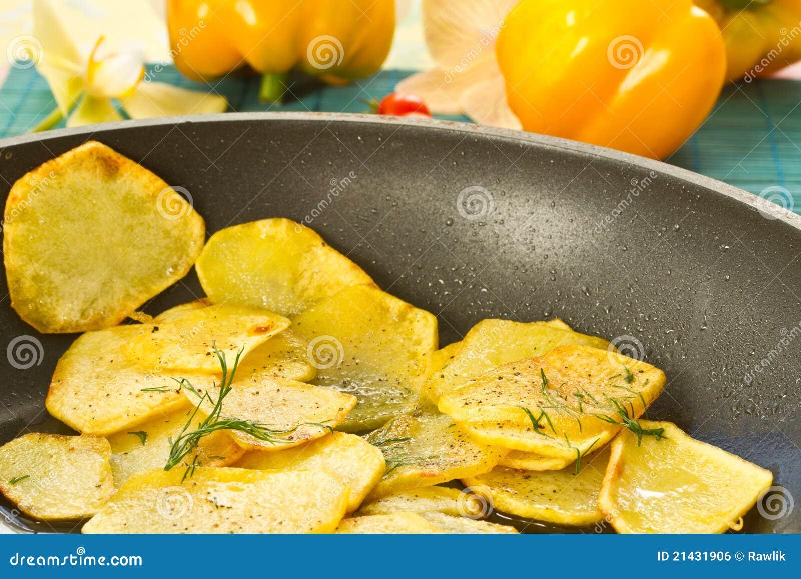 Fried Potatoes Royalty Free Stock Image - Image: 21431906