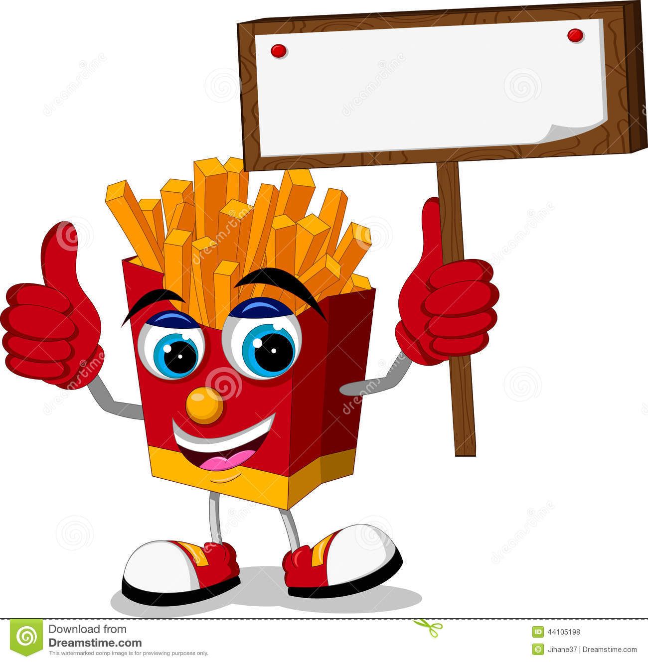 Cute potato cartoon thumb up cartoon vector