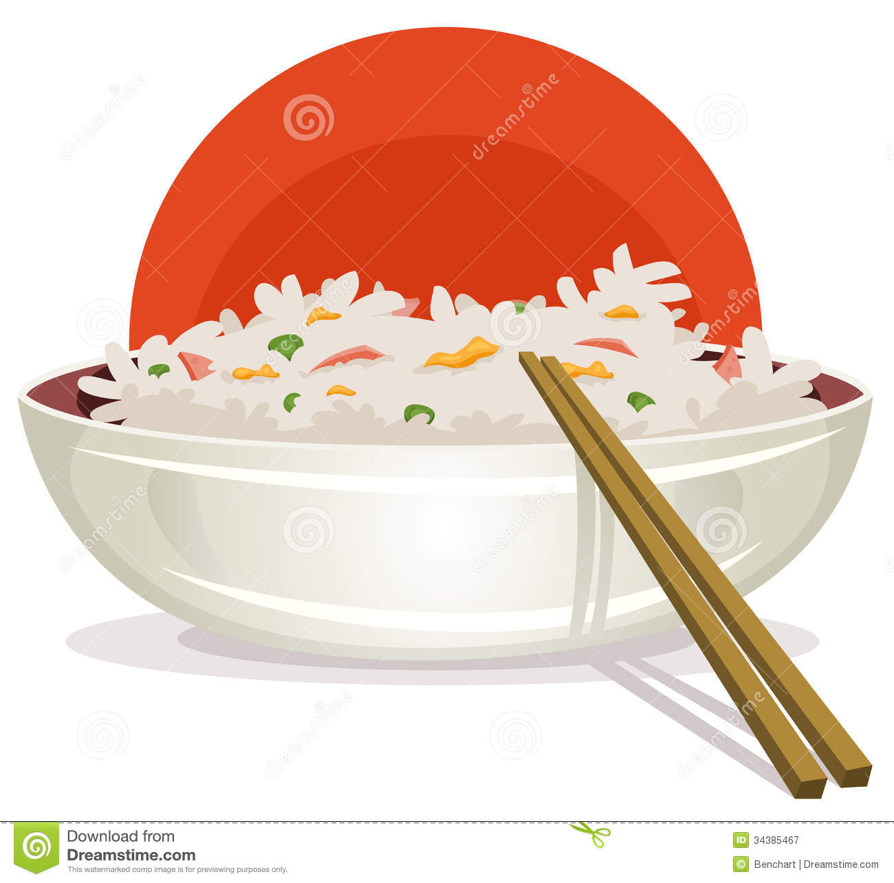Chinese Food On Plate