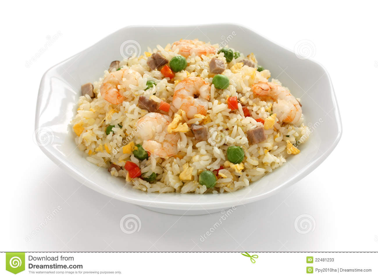 Fried Rice, Chinese Cuisine, Yangzhou Style Stock Photos ...