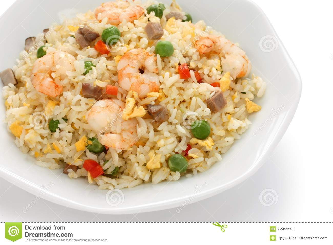 Fried rice chinese cuisine yangzhou style royalty free for Amnagement cuisine originale