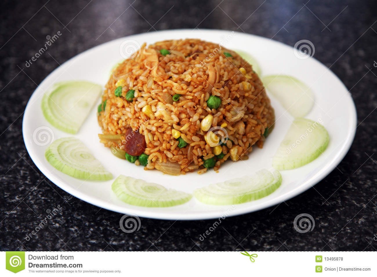 Fried Rice On A Plate Stock Photo Image Of East Chicken