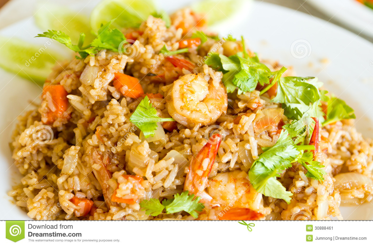 Fried Rice With Shrimp Stock Image - Image: 30888461