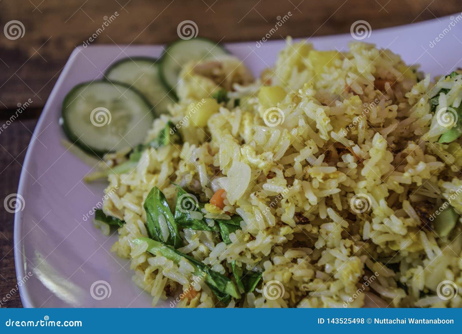 Fried Rice vegetal mezclado - comida tailandesa