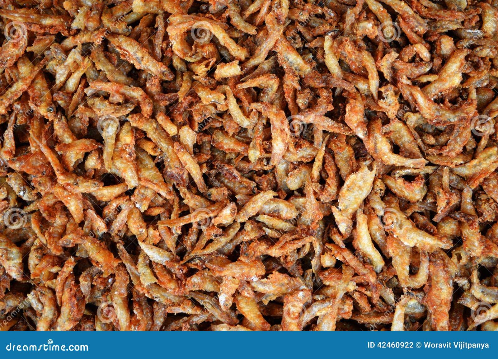 Fried Ricefish-Nahrungsmittelhintergrund