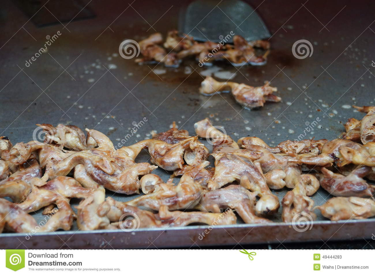 Download Fried sparrow stock image. Image of cooking, still, background - 49444283