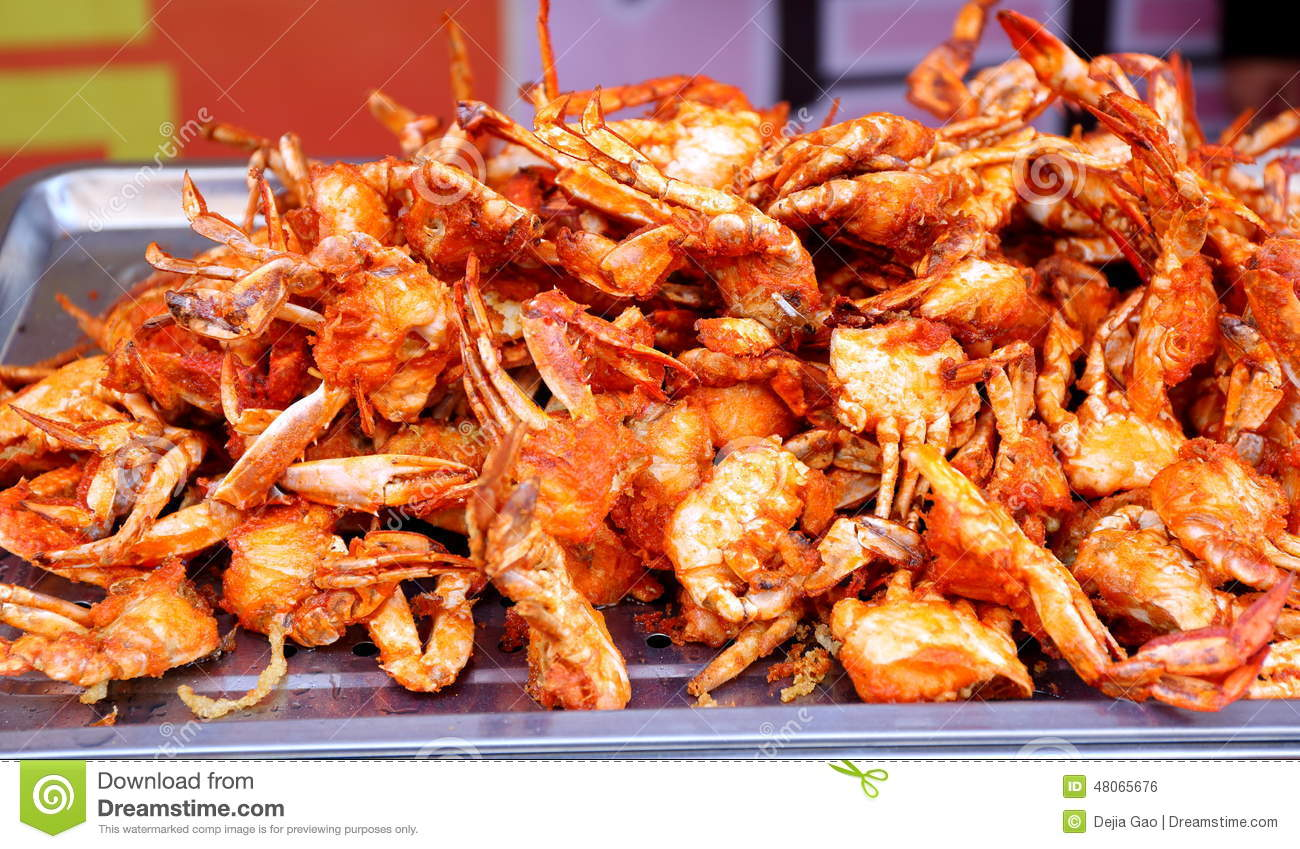Fried spicy crab exotic asian chinese cuisine typical for Cuisine of china