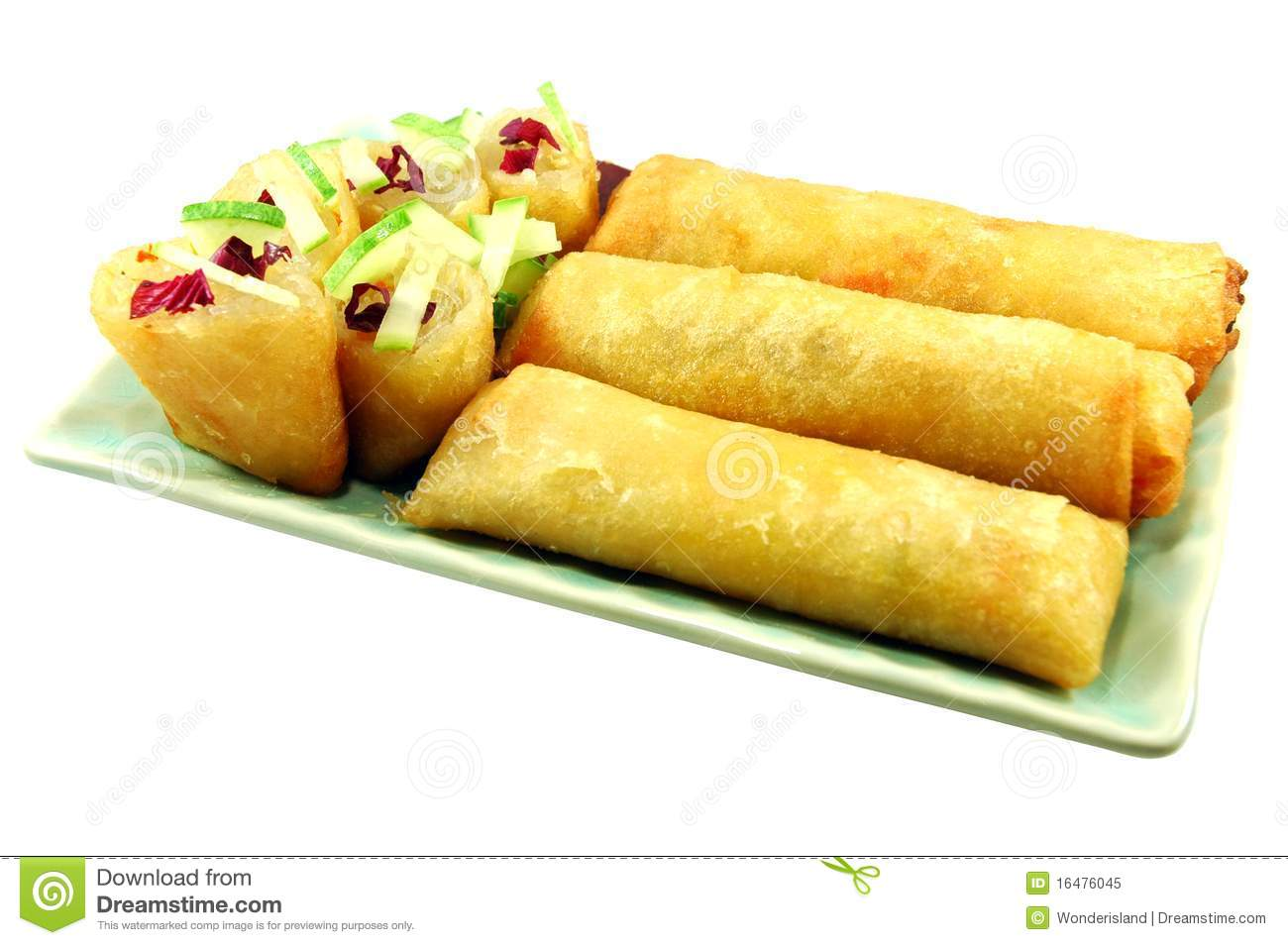 Fried Spring Rolls are usually found sold on the street in Thailand ...