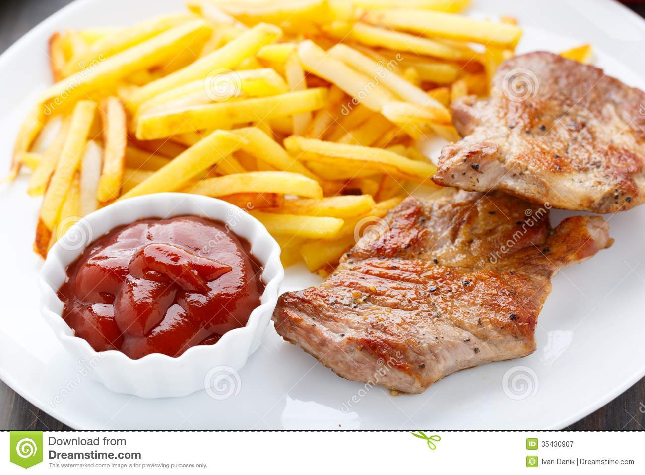 Image result for image of steak and ketchup