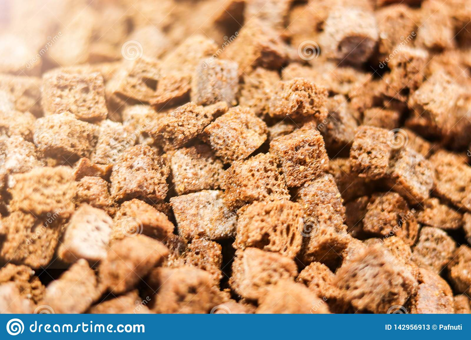 Fried toast or croutons from rye bread.